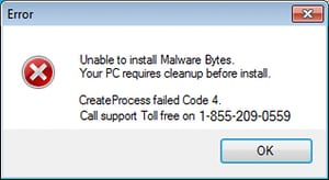 fake pc support pop up