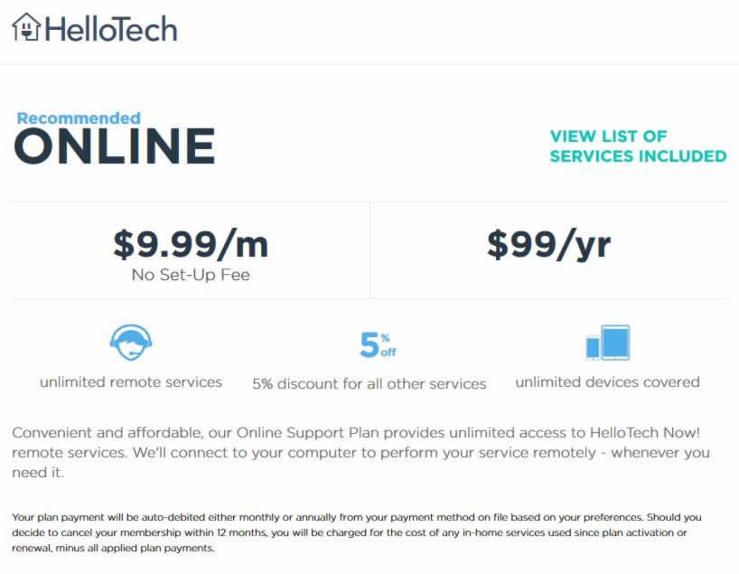 hellotech repair pricing