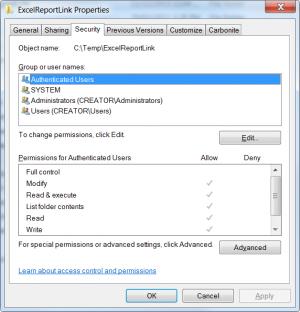 security of temp folder