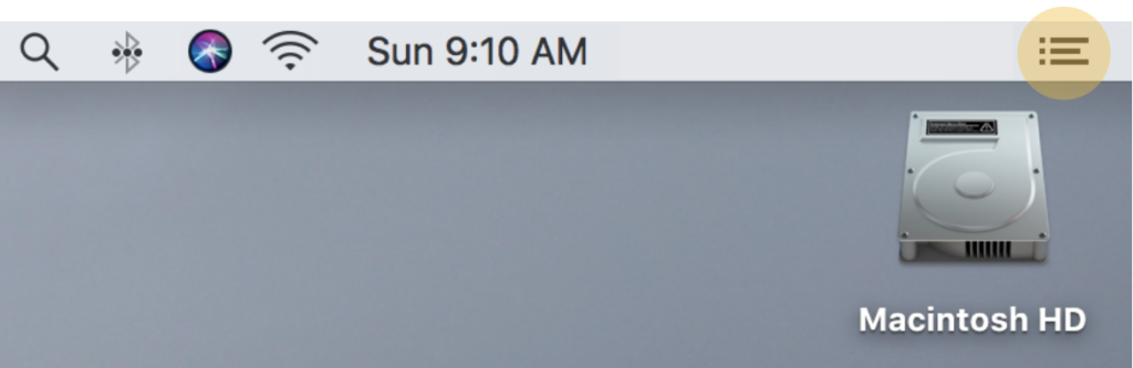 Where to Find the Notification Center on a Mac