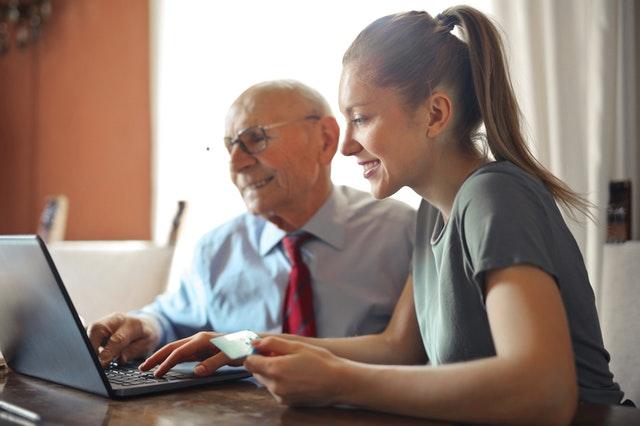 tech support older man